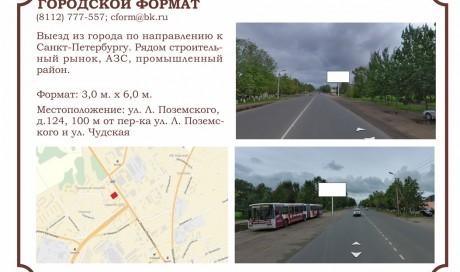 г. Псков, ул. Леона Поземского, д. 124