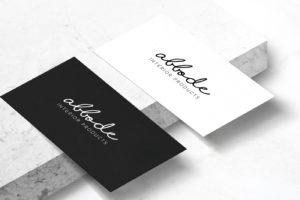 Образец визитной карточки